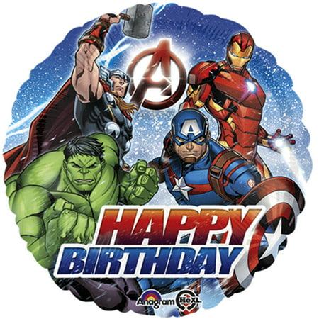 Avengers Happy Birthday Foil / Mylar Balloon 18