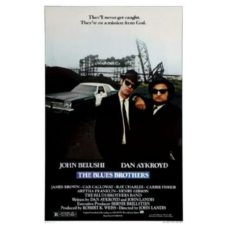 Four Brothers Movie Poster - Blues Brothers Movie Poster 24inx36in (61cm x 91cm)