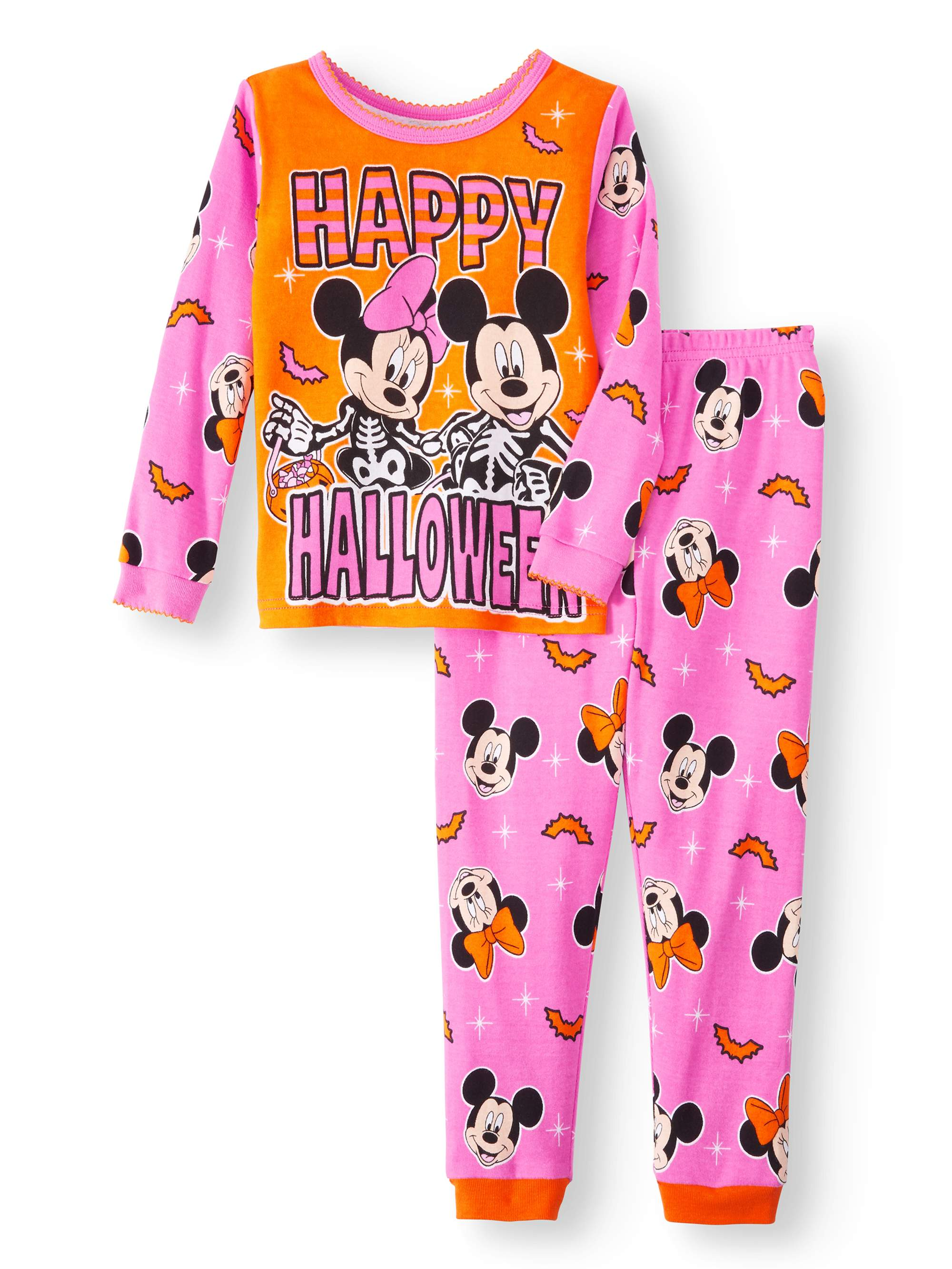 Halloween Glow-in-the-Dark Cotton Tight Fit Pajamas, 2-piece Set (Toddler Girls)