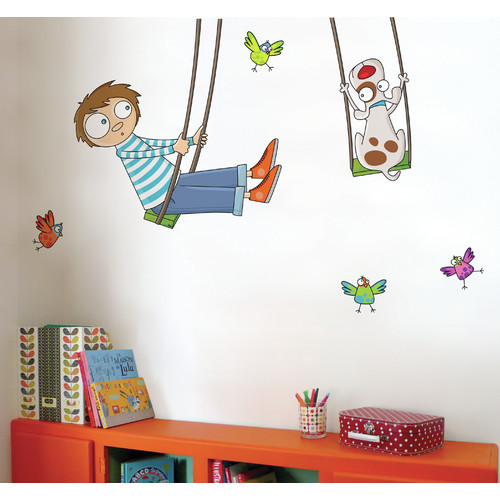 ADZif Ludo Tom on a Swing Wall Decal