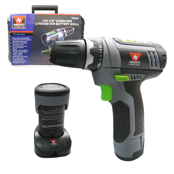 "12 Volt 3/8"" Pro Cordless Lithium-Ion Battery Powered Drill"