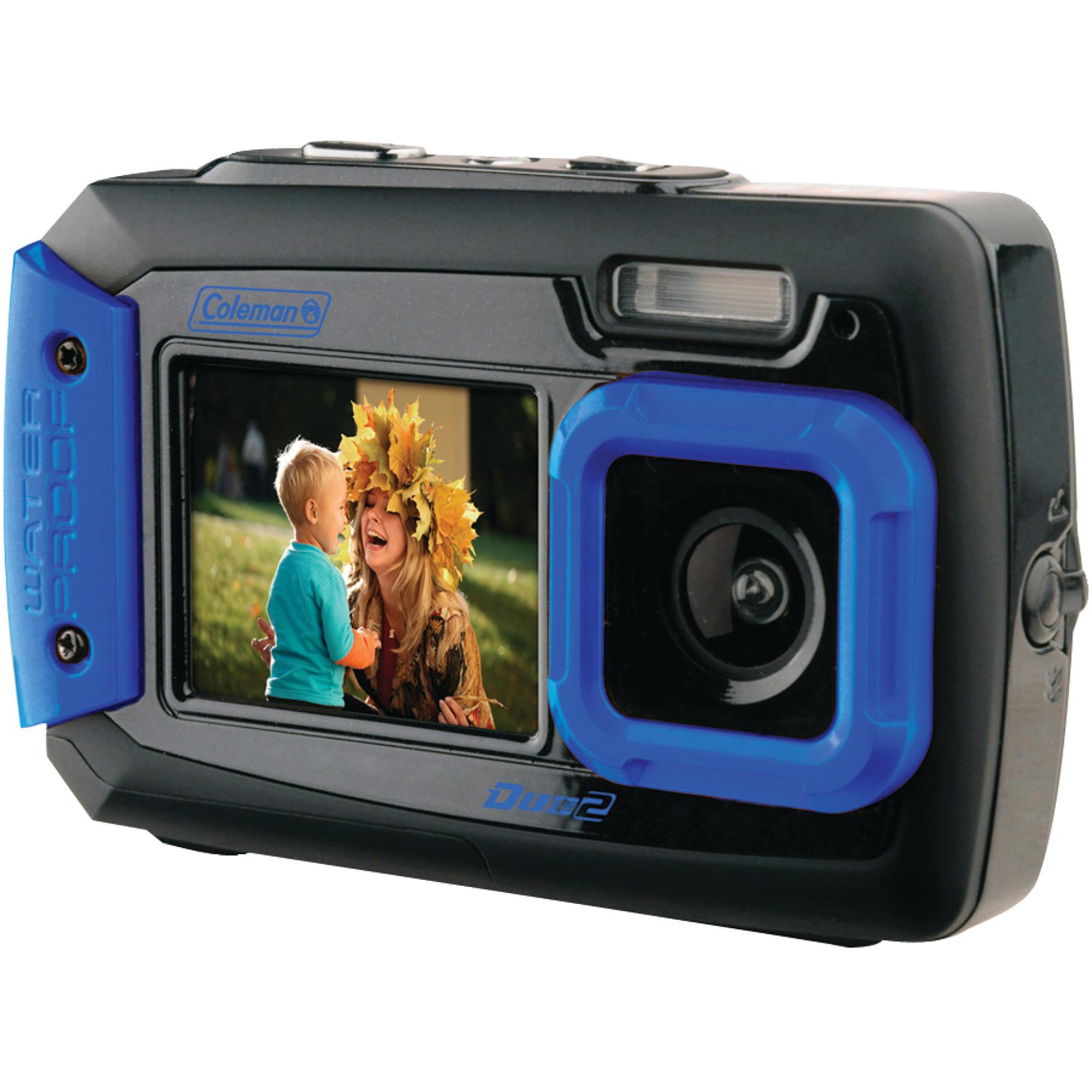 Coleman 2V9WP Duo2 Dual-Screen Waterproof 20MP Digital Camera, Blue