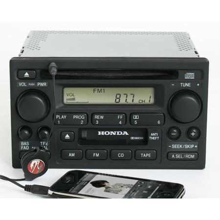Honda Accord 2001-02 Radio AM FM CD Cassette w Aux Input 39101-S84-A510-M1 2XA1 -