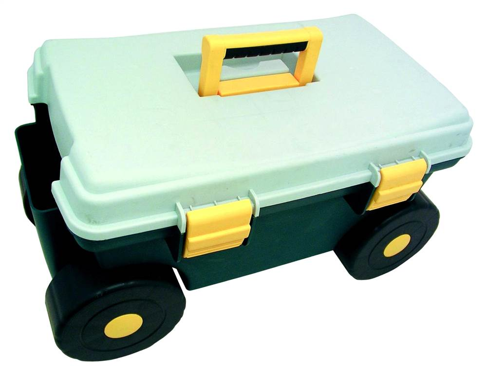 Rolling Garden Tool Cart w Storage Seat Handle Walmartcom