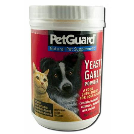 Pet Guard La levure et l'ail en poudre pour les chats et les chiens, 12 oz