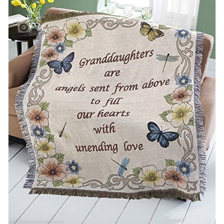 Granddaughter Grand Daughter Butterfly Tapestry Throw Blanket Cover Gift Brand New by Granddaughter