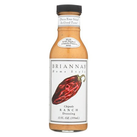 Chipotle Ranch - Brianna's - Salad Dressing - Chipotle Ranch - Pack of 6 - 12 Fl Oz.