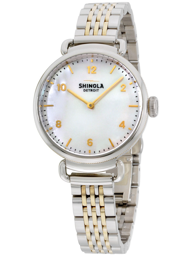 Shinola The Canfield Mother of Pearl Dial Stainless Steel Ladies Watch 20018678