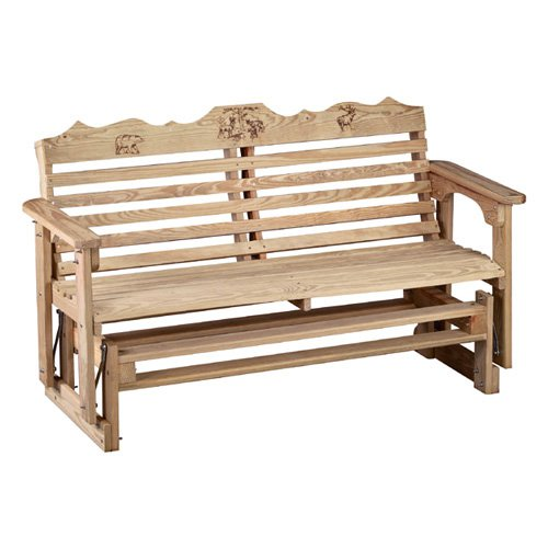 wildlife series treated wood outdoor glider bench