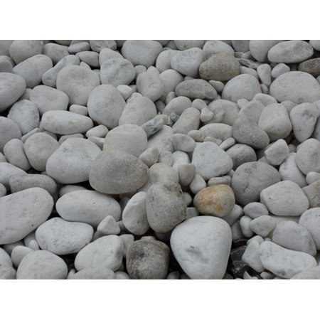 LAMINATED POSTER Marble White Pebble Riverbed Marble Gravel Poster Print 24 x 36