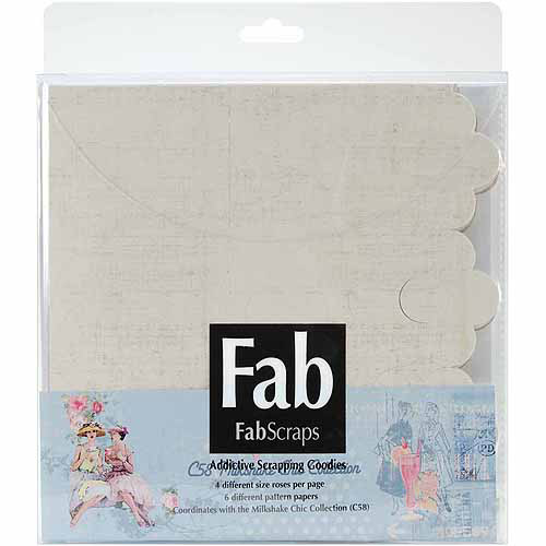 Fabscraps Milkshake Chic Rose Pre-Cuts Pockets, Each W/6 Colors, 5 Packets/pkg