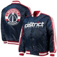 Washington Wizards Starter The Offensive Varsity Satin Full-Snap Jacket - Navy