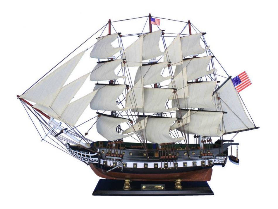 "Wooden USS Constitution Tall Model Ship 30"" Wooden Models Model Tall Ships by Handcrafted Nautical Decor"