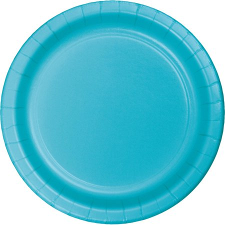 Club Pack of 192 Bermuda Blue Disposable Paper Party Dinner Plates - Party Paper Plates