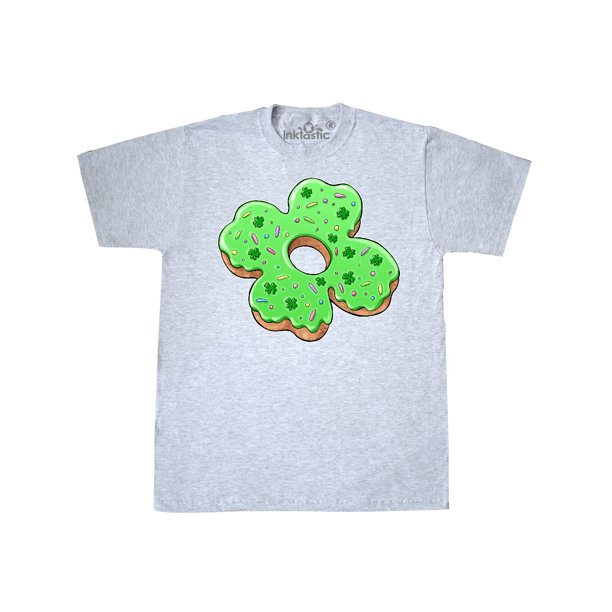 St. Patricks Day Four Leaf Clover Donut with Sprinkles T-Shirt