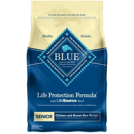 Blue Buffalo Life Protection Formula Natural Senior Dry Dog Food, Chicken and Brown Rice, 3-lb Blue Buffalo Senior Chicken