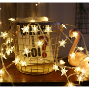 Star String Lights,LED Twinkle Lights(19.68FT)40 LED Indoor Fairy Lights Warm White for Patio Wedding Bedroom Princess Castle Play Tents Decoration (Battery Operated), I0954