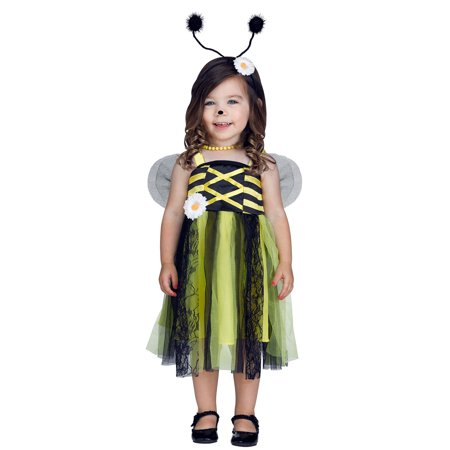 Bee My Baby Girls Toddler Bubble Bee Princess Halloween Costume](Bee Costume Baby)