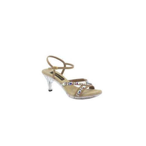Johnathan Kayne Womens Vienna Platform Sandal,Taupe Polyurethane,11 M US