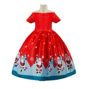 Toddler Baby Girl Christmas Dress Santa Claus Party Princess Wedding Dresses