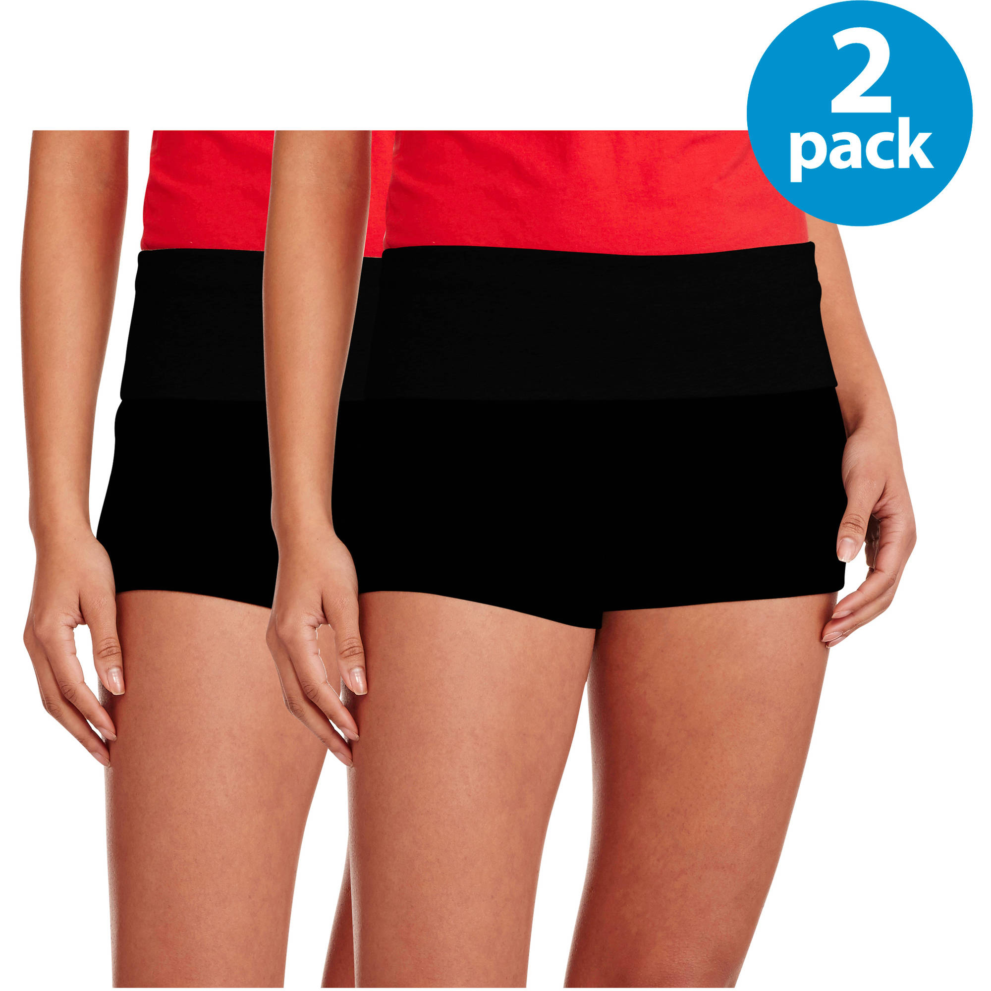 No Boundaries Juniors Yoga Shorts 2 Pack