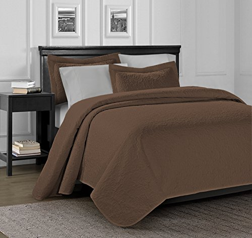 3 piece jules ultrasonic embossed clearance bedding quilted bedspreads coverlet 100x106in 118x106in