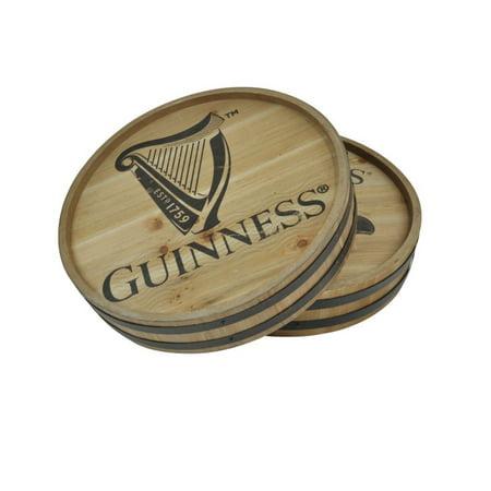 Guinness Bar Signs (Guinness Classic harp Logo Wooden Barrel Top Round Wall Art Pub Bar)