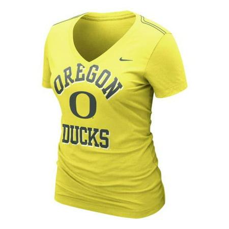 Nike Oregon Ducks Womens Whose That V Neck T Shirt