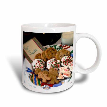 3dRose Holiday, Christmas cookies and milk for Santa - LI09 CMI0055 - Cindy Miller Hopkins, Ceramic Mug, 11-ounce