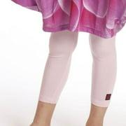 Girls Pink Viscose Jersey Pedal Pusher Leggings 7-14
