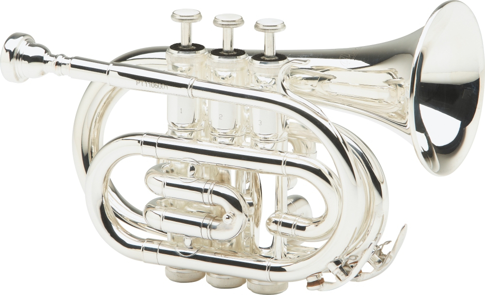 Allora MXPT-5801 Series Pocket Trumpet Silver by Allora