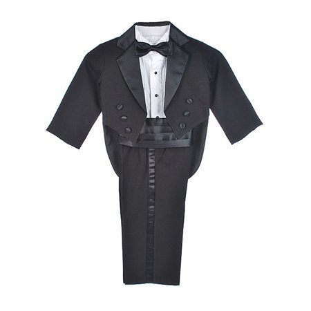 Kaifer Little Boys' Toddler 5-Piece Tuxedo with Tails (Sizes 2T - 4T) - Tuxedo With Tails For Sale