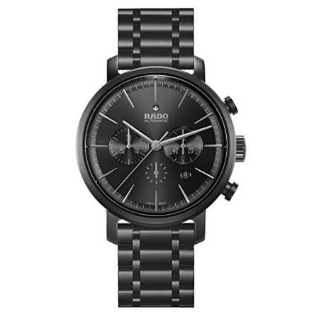Rado Men's DiaMaster 45mm Black Ceramic Band & Case Sapphire Crystal Automatic Analog Watch R14090192