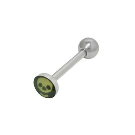 Barbell Head - Skull Head Tongue Barbell