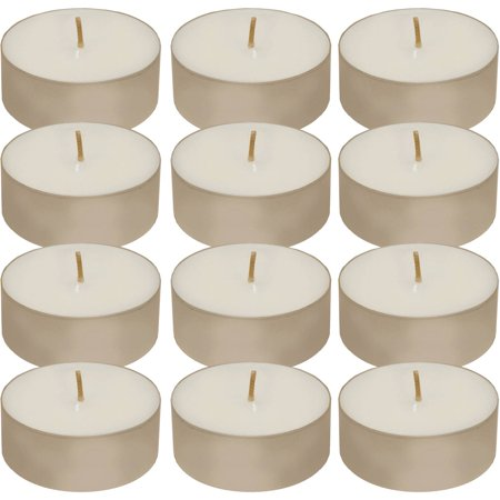 Large Cake Candle (Extra Large Tea Light Candles, 12 Count )