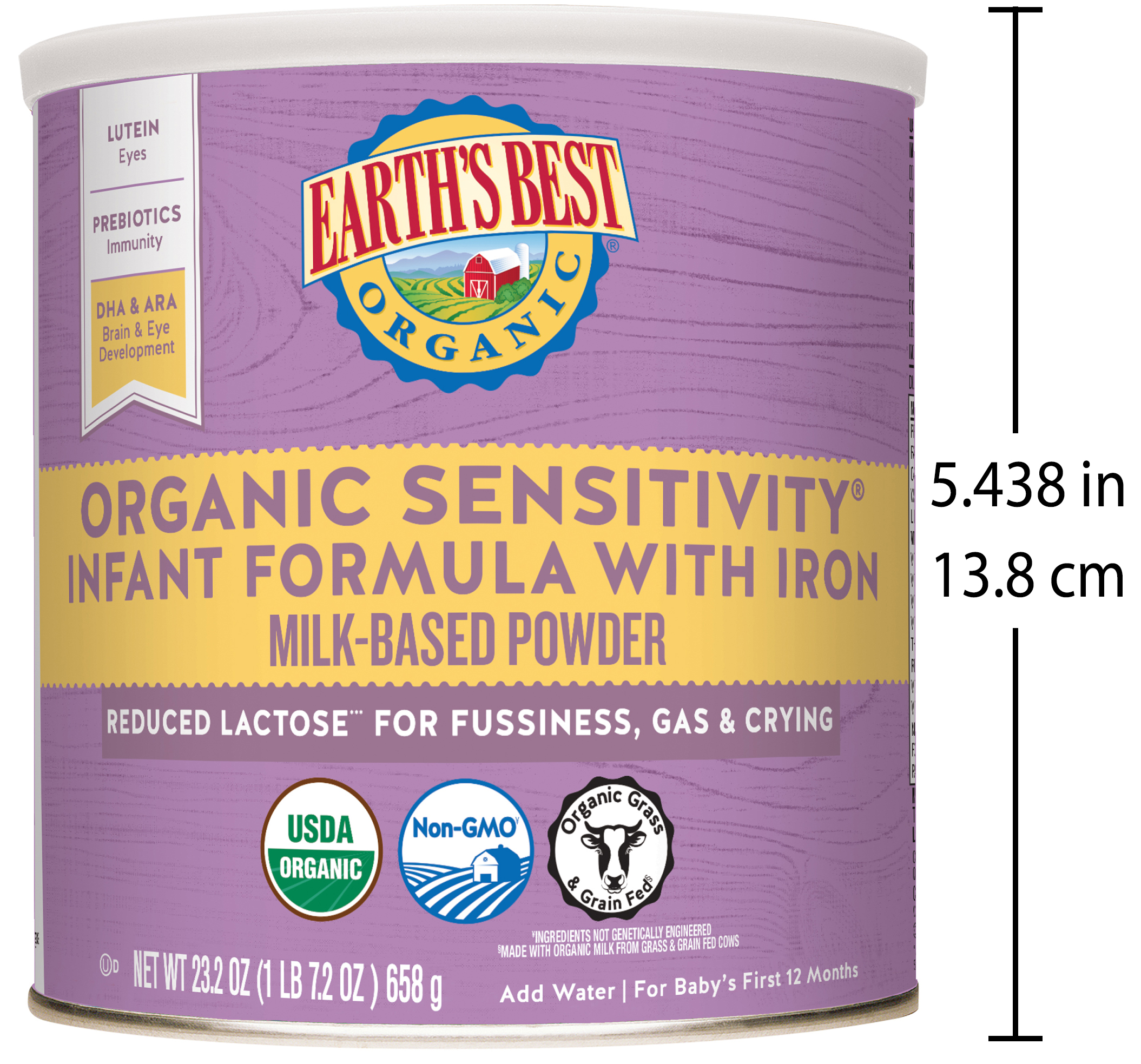 c51facd788967 Earth s Best Organic Low Lactose Sensitivity Infant Powder Formula with  Iron