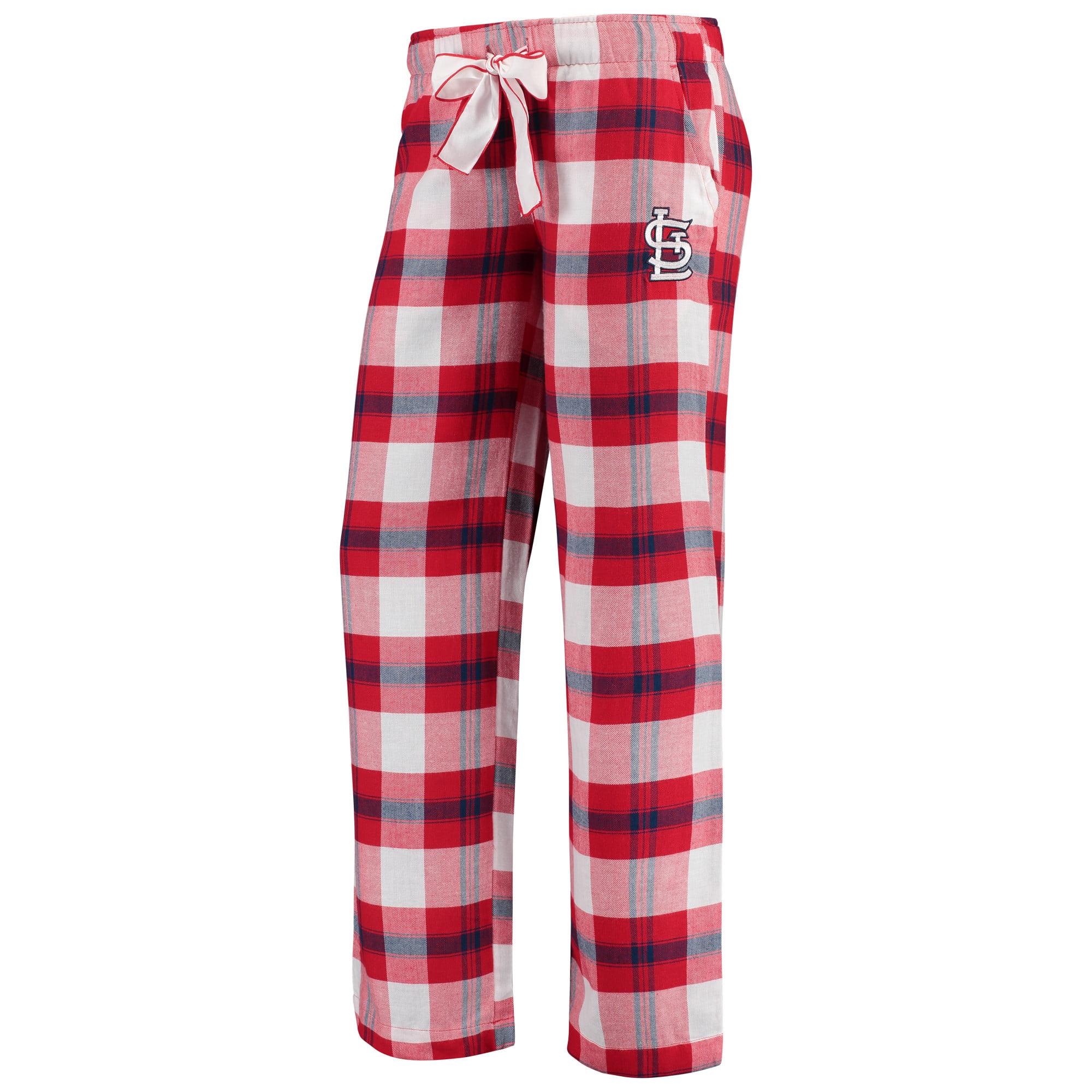 St. Louis Cardinals Concepts Sport Women's Headway Flannel Pants - Red/Navy