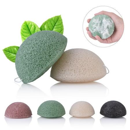 Hilitand Hot Natural Konjac Konnyaku Fiber Face Wash Cleanse Sponge Puff Exfoliator (Natural Puff)