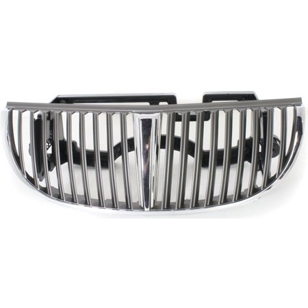 NEW FRONT GRILLE SILVER FITS 1998-2002 LINCOLN TOWN CAR XW1Z8200BA FO1200348 ()