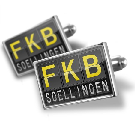 Cufflinks Fkb Airport Code For Soellingen   Neonblond
