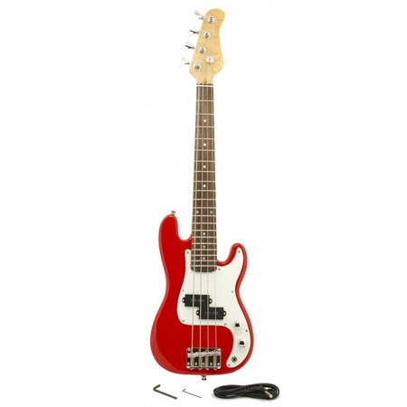 Small Guitar (ELECTRIC BASS GUITAR - RED - Small Scale 36