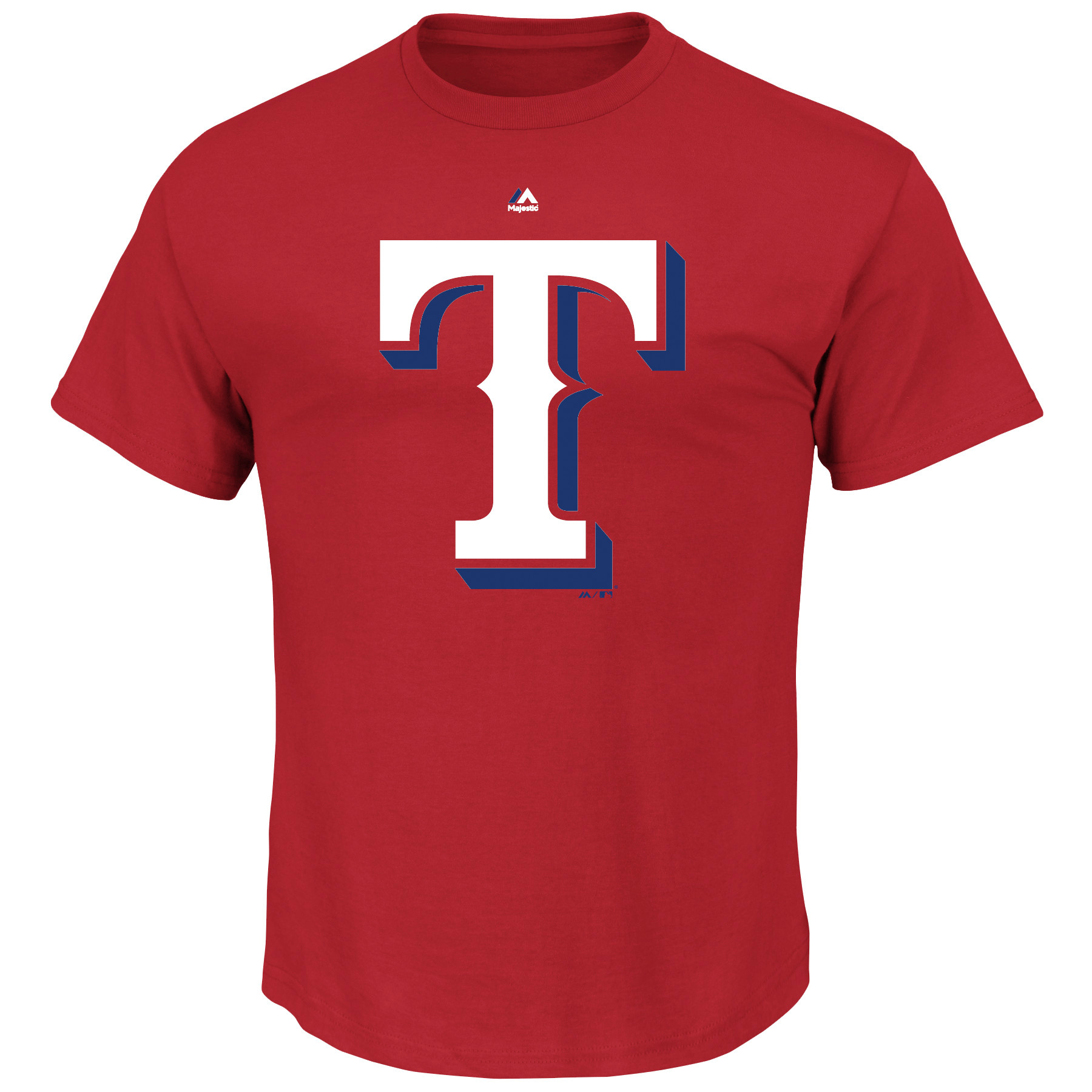Texas Rangers Majestic Big & Tall Official Big Logo T-Shirt - Red