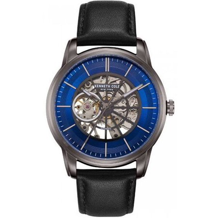 Men's Kenneth Cole New York Automatic Black Leather Strap Watch KC50223002 ()
