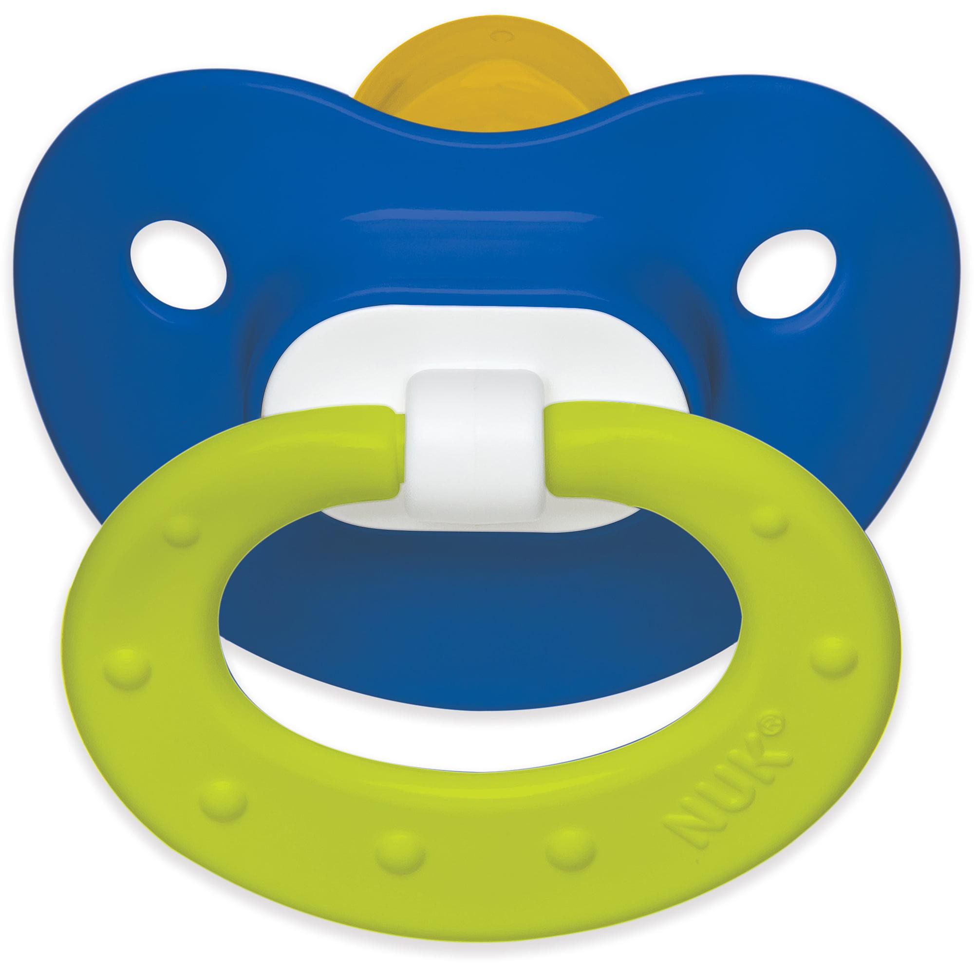 NUK Juicy Latex Orthodontic Pacifiers, 2ct, 6-18 months, BPA-Free (Colors May Vary)