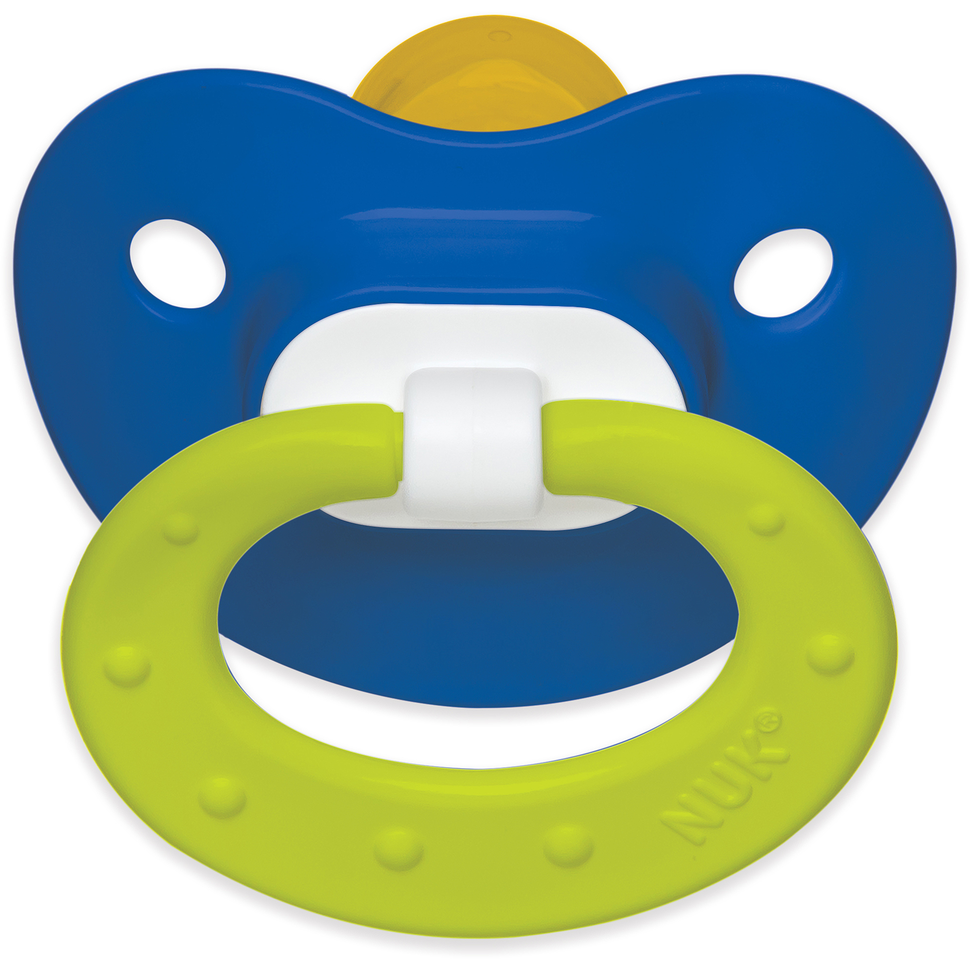 NUK Juicy Latex Orthodontic Pacifiers, 2ct, 6-18 months, BPA-Free (Colors May Vary)