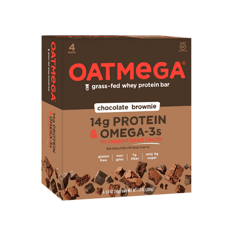 Oatmega Protein & Omega-3 Bar - Chocolate Brownie - 4ct