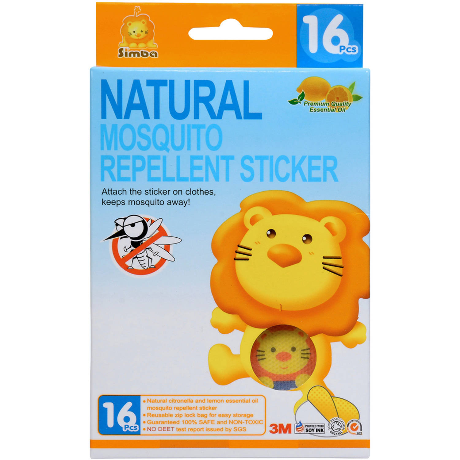 Simba Mosquito Repellent Stickers, 16 pcs