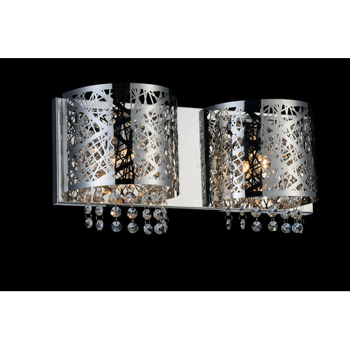 Crystal World 2-Light Wall Sconce