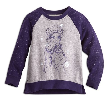 Disney Store Size Chart (Disney Store Girls Elsa - Frozen - Sweater, Purple, Size)