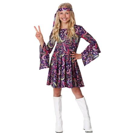 Girl's Woodstock Hippie Costume - image 1 of 3